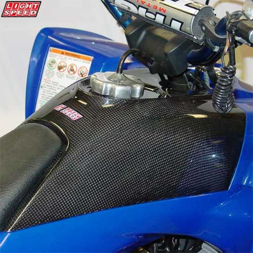 Light Speed atv carbon fiber tank cover